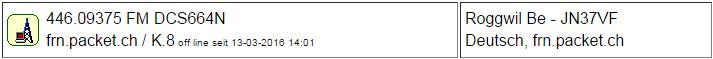 Gateway Roggwil seit 13.03.2016 Offline