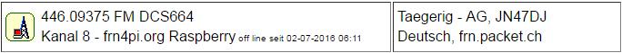 PMR Gateway Taegerig seit 02.07.2016 Offline