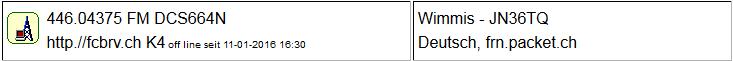 Gateway Wimmis seit 11.01.2016 Offline