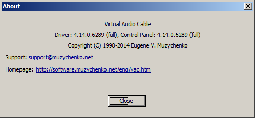 Info von Virtual Audio Cable