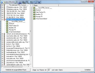 Nach dem installieren des neuen FRN Java Server ist der 'baldi.selfhost.me' wieder in der Liste des System-Monitor wieder zu finden