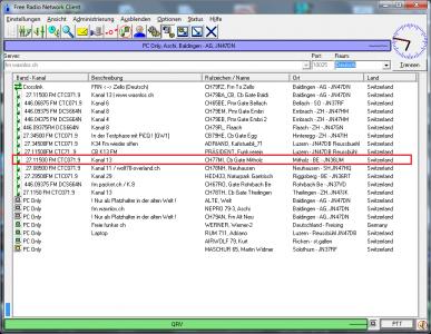 CB Gateway Mitholz auf Kanal 13 mit CTCSS 71.9