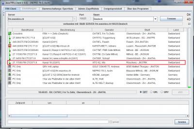 CB Gateway Röschenz auf Kanal 18 mit CTCSS 71.9, vielleicht auch ohne CTCSS