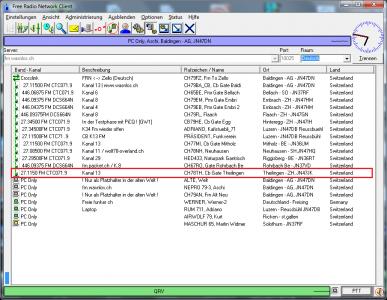 CB Gateway Theilingen auf Kanal 13 mit CTCSS 71.9
