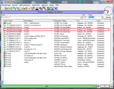PMR Gateway Embrach auf Kanal 8 mit DCS664N