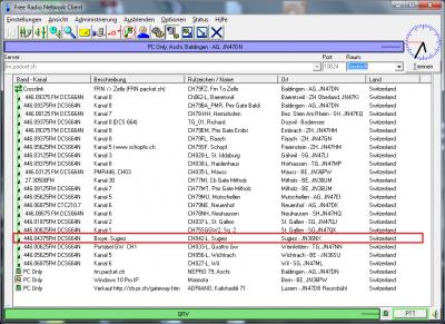 PMR Gateway Sugiez auf Kanal 4 mit DCS664N