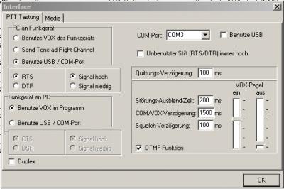 Einstellungen meines PMR-Gateways in Baldingen