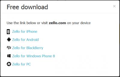 Zello unterstützte Systeme