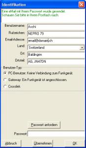 FRN-Client Benutzerdaten