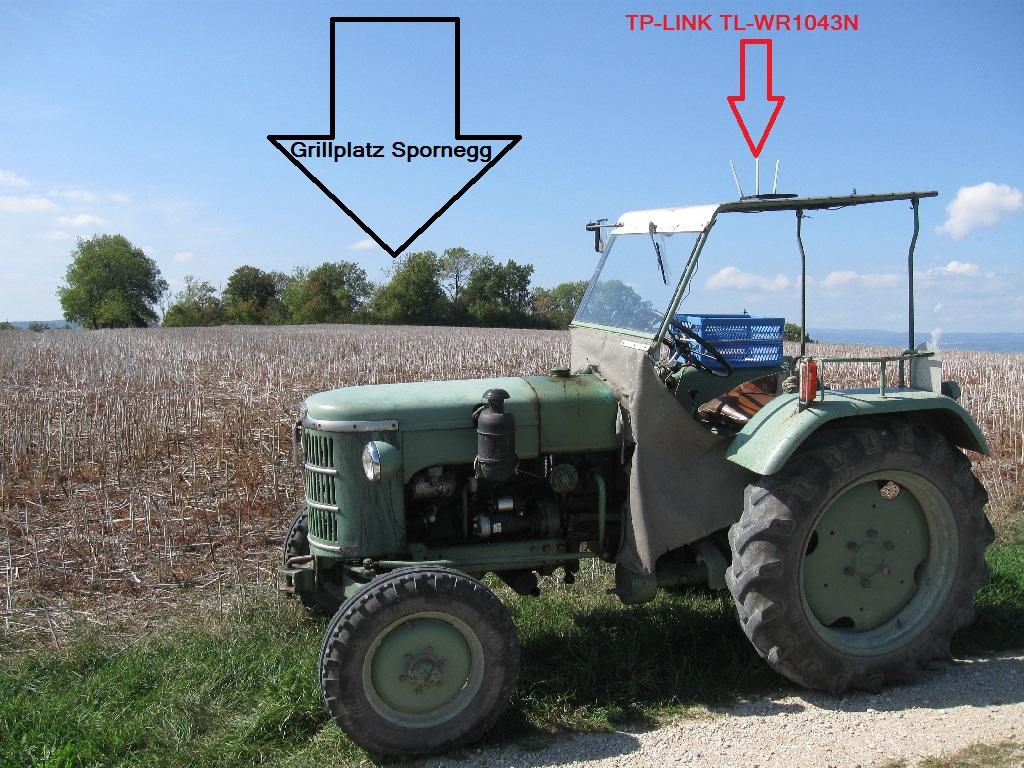Mein Traktor als Repeater für Freifunk