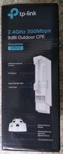 Eindeutiges Indiez das es sich bei einem TP-Link CPE210 um V3 handelt, auf der Seite der Schachtel sieht man ein Abbild nur einer Ethernet-Schnittstelle