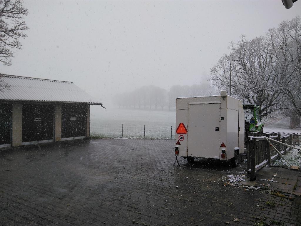 Am 04.05.2019 um 17:07 Uhr liegt auf der Wiese bereits Schnee