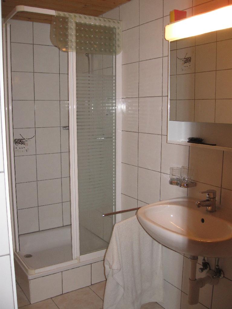 Dusche/WC im 'unteren Graffenrieder'