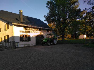 Der Deutz steht am 31.05.2019 um 06:24 Uhr vor dem 'unteren Graffenrieder' zur Abfahrt ins Zürcher Weinland bereit