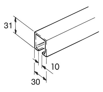 EKU Schiene Typ 60/100 Aluminium 200 cm