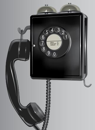 Analoges Wandtelefon 'Eidgenoss' von der PTT
