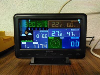 Display und Innensensoren zur Wetterstation Eurochron EFWS2900