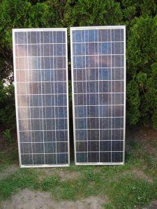 Beide Solarpanels nebeneinander