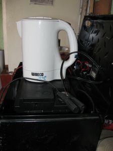 Waeco 12 Volt Wasserkocher MCK750 auf dem 'Prüfstand'