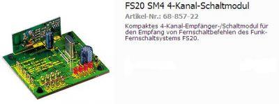 FS20SM4 4-Kanal Empfängermodul