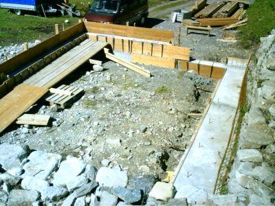 Grundmauer für den Stall