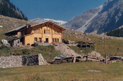 Das im Jahre 1970 wieder neu augebaute Berggasthaus Heimritz