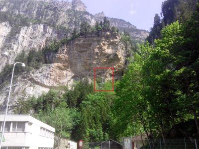 Felsbauarbeiten in der 'Chluse' beim Aufgang von Kandersteg ins Gasterntal