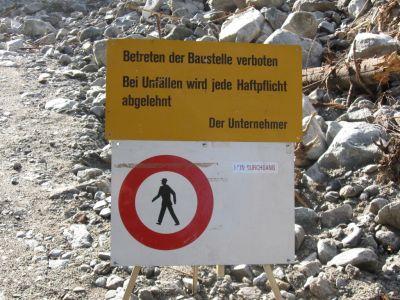 Betreten der Baustelle verboten nach Selden