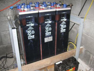 Die Batterien an ihrem neuen Standort