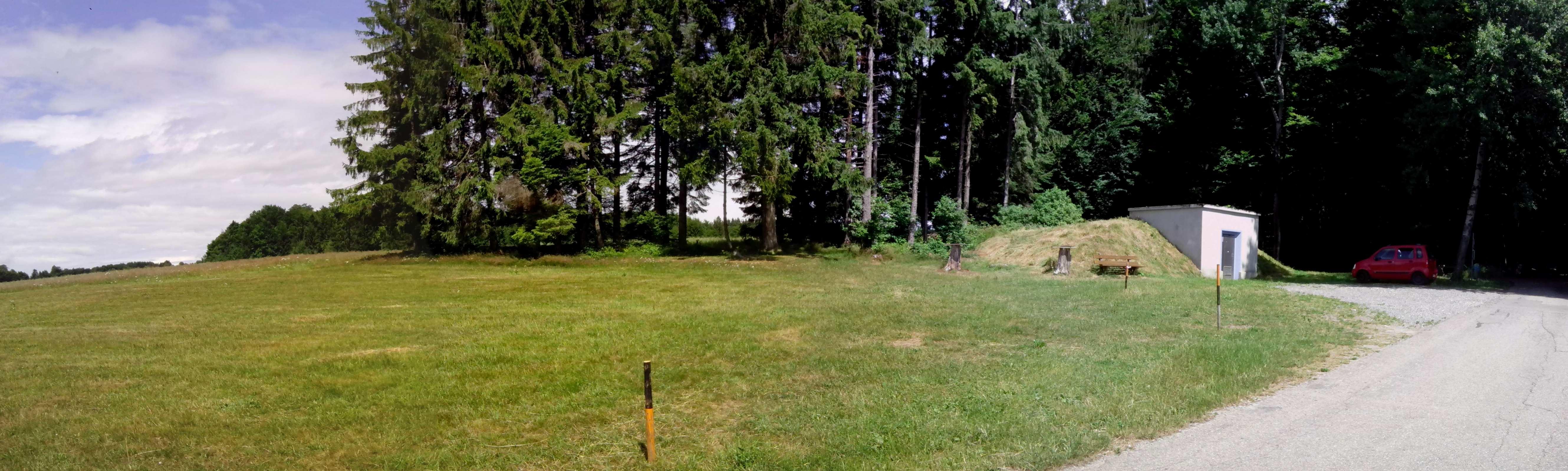 Am 29.06.2017 noch leerer Fielddayplatz im Südscharzwald