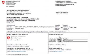Technische Schnittstellen-Anforderungen RIR0507