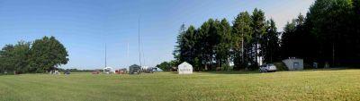 Der Fielddayplatz am 08.07.2017 um ca 8 Uhr