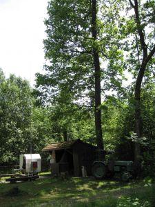 Mein Funkgespann bei der Hütte am Plattenweiher