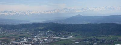 Berg-Panorama von der Lägere am 06.04.2018