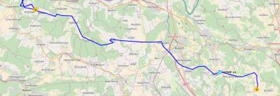 Route von Baldingen nach Brütten am 16.06.2018