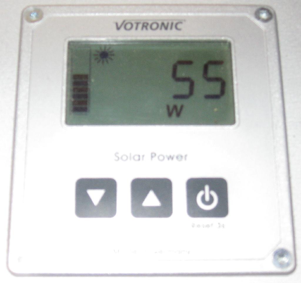 Gelieferte Watt von beiden Fotovoltaikpanel's am 12.09.2018 um ca. 16 Uhr
