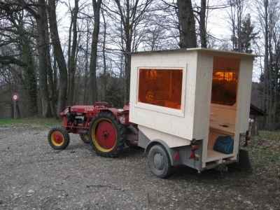 Das Papa-Mobil mit Zugfahrzeug