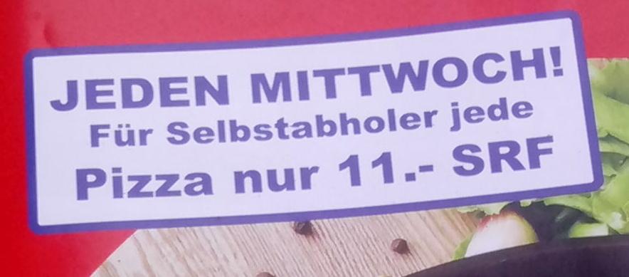 Diesen Text auf einem Pizza-Flyer gefunden