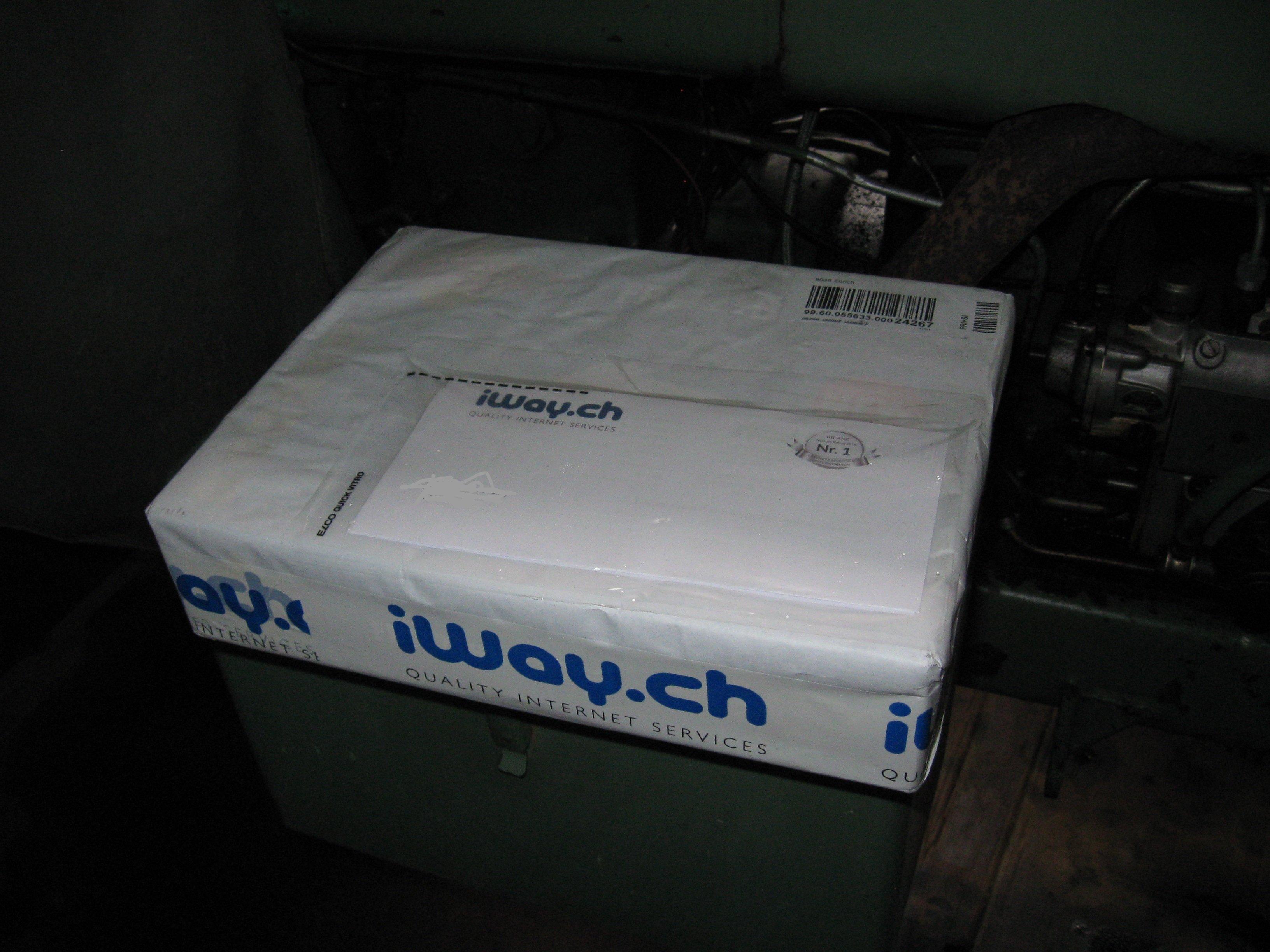 Packet mit neuem Router am 27.04.2017 eingetroffen