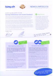 News & Infos 2/16 von iWay.ch Seite 1