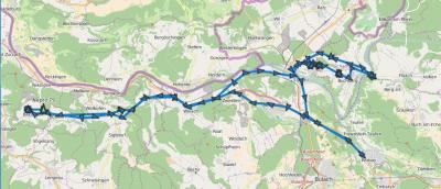 Karte der Traktoren-Tour vom 21.05.2016
