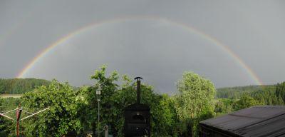 Regenbogen zwischen Baldingen und Böbikon am 02.06.2017