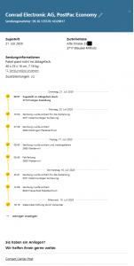 Sendungsverfolgung vom Packet welches mir von der Post auf Freitag den 17.07.2020 zur Anlieferung angegeben wurde...