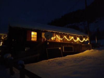 'Mein' Hexenhäuschen im weihnachtsabendlichen Licht