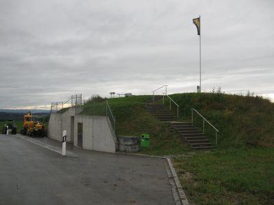 Das neue Reservoir auf dem Brüttemer