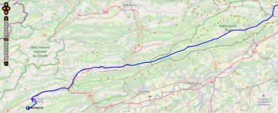 Karte der Strecke am 2. Tag der 'züglete'