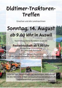 Oldtimer-Traktorentreffen in Aerbolligen am 14.August 2014