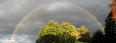 Regenbogen nach kurzem Regen auf der Spornegg