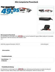 Mini Jumpstarter/Powerbank mit nicht logischen technischen Merkmalen