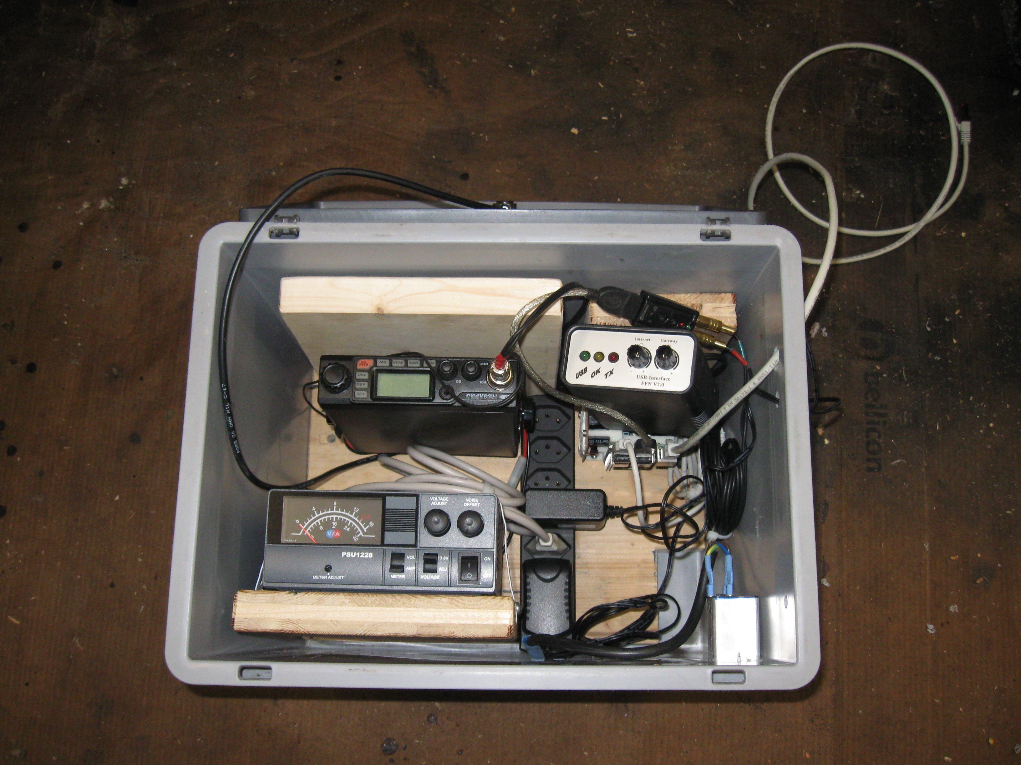 Die Komponenten für einen Gateway mit PiCQ in der RAKO-Box